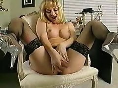 Tranny secretary relaxing in office