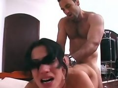 Shemale gets facial after real anal